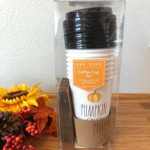 Rae Dunn PUMPKIN SPICE coffee cup set
